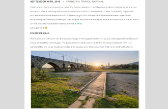 Travel Journal – 001 – Portugal – Ponte de Lima and Surroundings